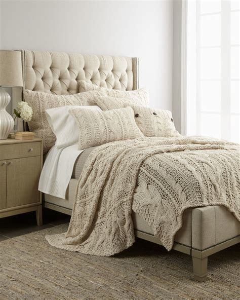 Amity Home Micah Cable Knit Bed Linens Traditional