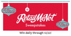 Retailmenot Sweepstakes - sweepstakes win 25 egift cards daily free products more southern savers