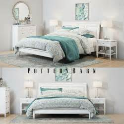 pottery barn white bedroom furniture pottery barn crosby white bedroom set 3d cgtrader
