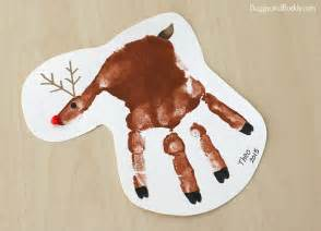 handprint reindeer christmas ornament craft for kids