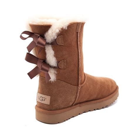 ugg boots with bows womens ugg 174 bailey bow ii boot brown 581627