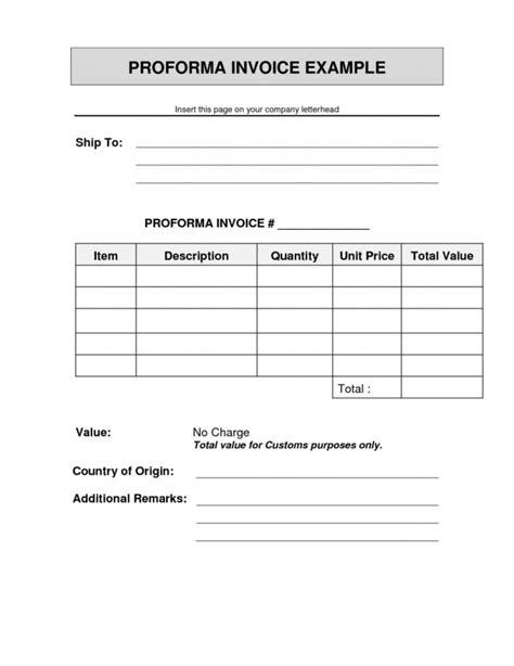 proforma invoice template simple proforma invoice template proforma