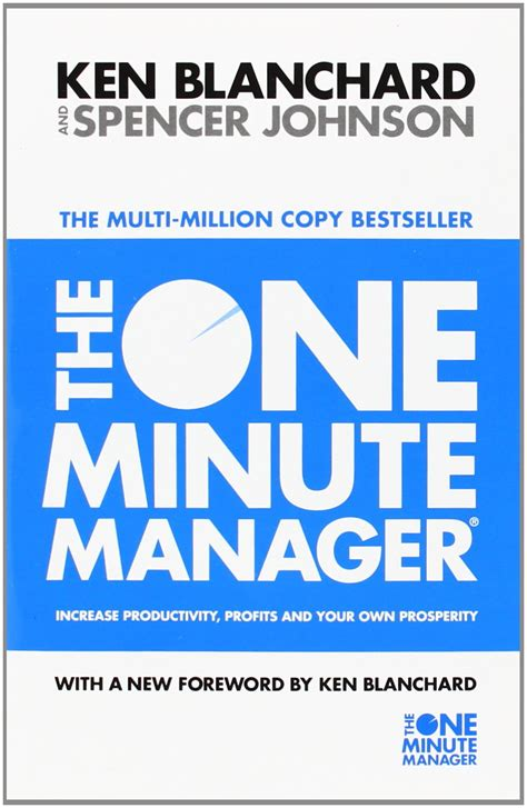 One Minute Manager the one minute manager by ken blanchard spencer johnson