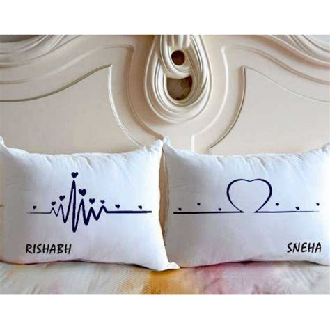 Pillow With Heartbeat by Buy Heartbeat To Personalized Name Pillows