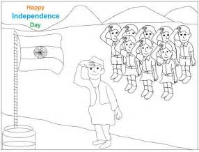 Indian Independence Day Coloring Page Sketch sketch template