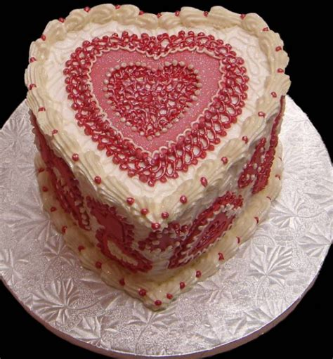 valentines cake cake with pretty cake decor patterns in png