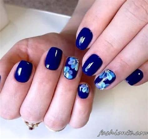 blue pattern nails dark blue nail art nails gallery