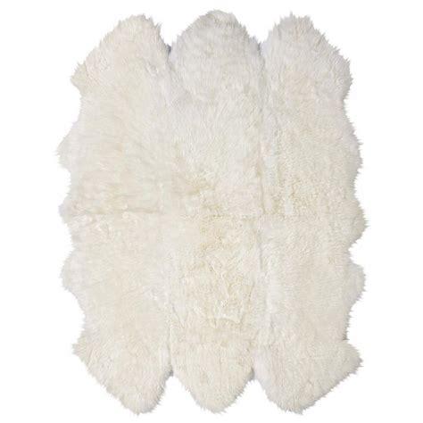 ivory fur rug veruca modern ivory sheepskin 6 pelt fur rug kathy kuo home