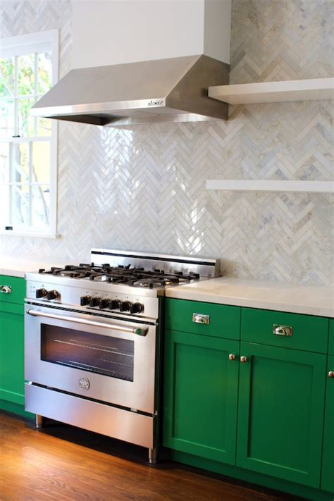 Green Kitchen Cabinets Green Cabinets Contemporary Kitchen Benjamin Once Upon A Time Kishani Perera