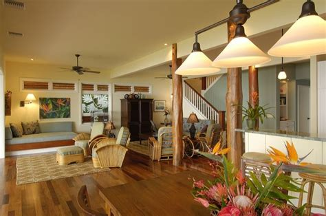 Retro Hawaii Beach Cottage Traditional Living Room hawaii by Fine Design Interiors, Inc