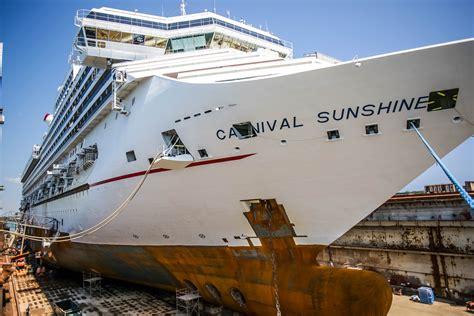 cruises in dry dock carnival cruise lines carnival sunshine grand bahama