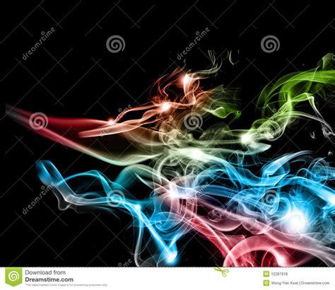 colorful cigarette smoke abstract colorful smoke royalty free stock image