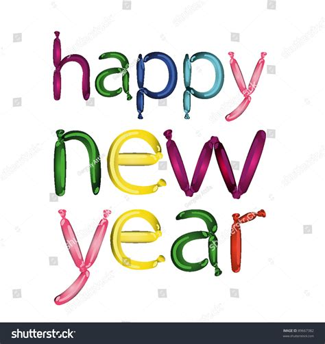 happy new year in font joyful balloon font happy new year vector clip