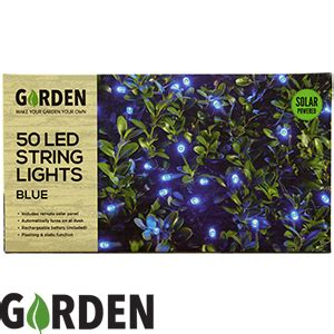 buy  led garden solar power string lights blue  home