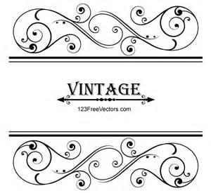 vector vintage floral ornamental frame design 123freevectors