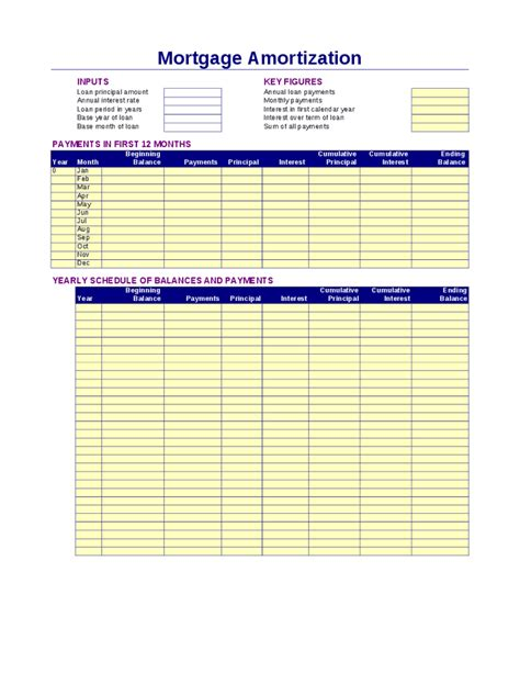 Amortization Calendar Mortgage Amortization Schedule Hashdoc