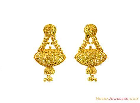 22k gold earrings designs 22k gold filigree earrings erfc13459 us 685 22k