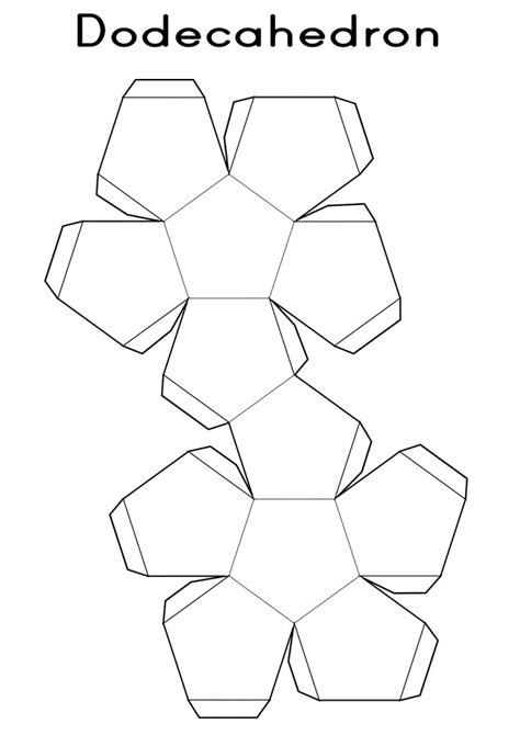 Shape Nets Printable 3d Geometry Kiddo Shelter 3d Print Templates Free