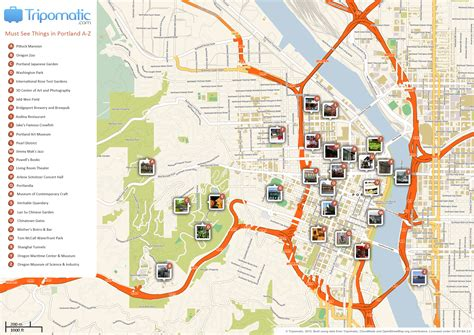map of portland file portland printable tourist attractions map jpg wikimedia commons