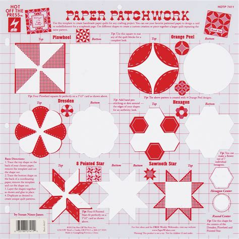 Patchwork Template - the press templates paper patchwork jo