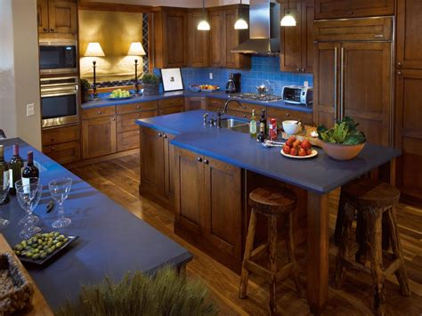 colorful kitchen islands blue kitchen countertops ideas quicua