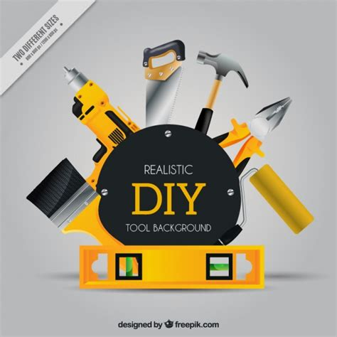 free design logo tool realistic background about craft tools vector free download