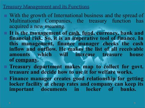 Mba In Fund Management by Treasury And Fund Management Parakramesh Jaroli Mba Fm