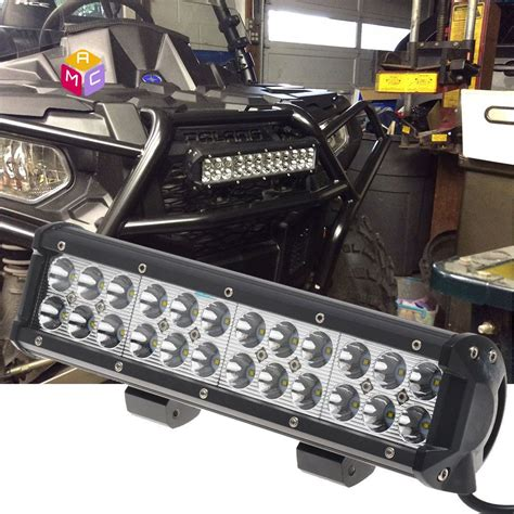 led tractor light bar 12 quot led work light bar spot fit meyer tractor yamaha rhino