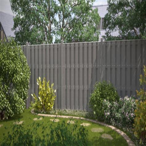 sichtschutz garten wpc grau br 252 gmann sichtschutzzaun jumbo wpc rechteck grau 95 x 179 cm