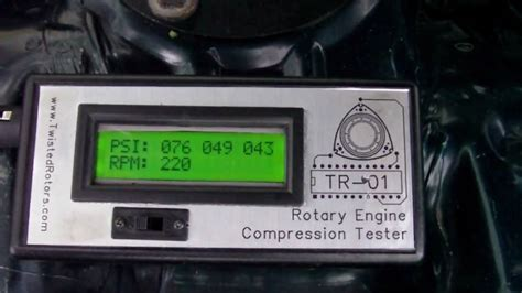 Tester Digital Masda s fd 1 tr 01 rotary engine compression tester