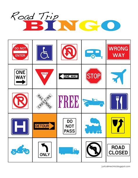 printable games for car rides road trip bingo honest to nod