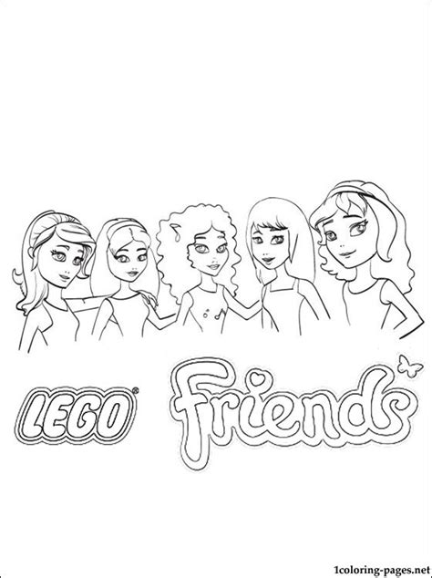 lego friends coloring pages to print pictures to pin on