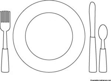 table place setting coloring page coloring pages