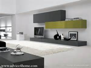 Box contrast shelves and gray white wall in living room for home and