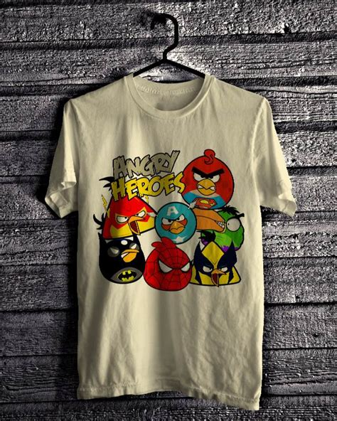Kaos Oblong Distro 6 Birds angry bird kaos murah kaos grosir kaos jual kaos
