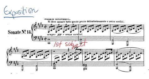 the second section of a sonata is commonly called the moonlight sonata by beethoven an analysis pianotv net
