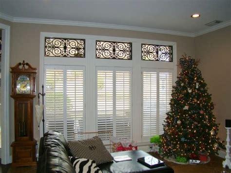 transom window covering iron detail in transom window window treatments