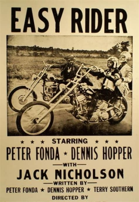 Easy Rider Black by Easy Rider Poster Black White Itler