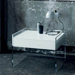 Glass Bedside Table Ls Float Glass Stand Glas Italia Switch Modern