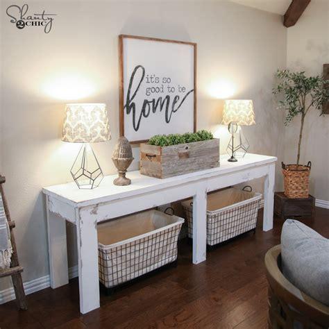 farmhouse sofa table plans 40 farmhouse console table shanty 2 chic