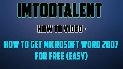 full version how to get cuphead for free how to get microsoft word 2007 free full version youtube