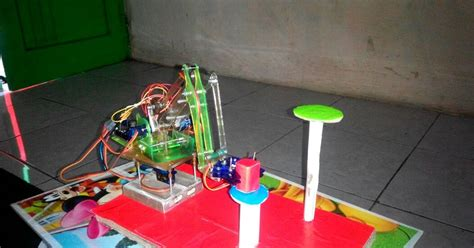 membuat robot arm   control  barcode