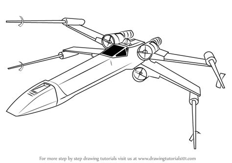 star wars coloring pages x wing fighter step by step how to draw x wing fighter from star wars