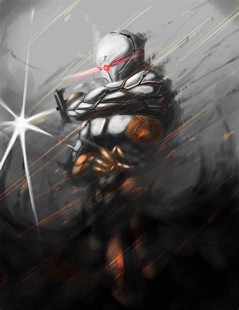 grey ninja wallpaper gray fox by kevzter deviantart com games art