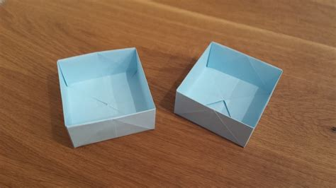 Paper Box Folding - origami how to make a paper box that opens and closes