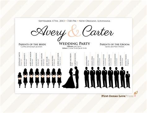 Silhouette Wedding Program Sign PDF Design Canvas