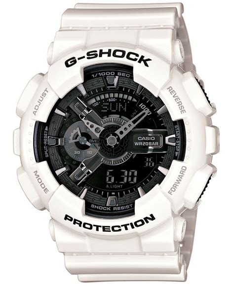 g shock protek black list white g shock s analog digital white resin