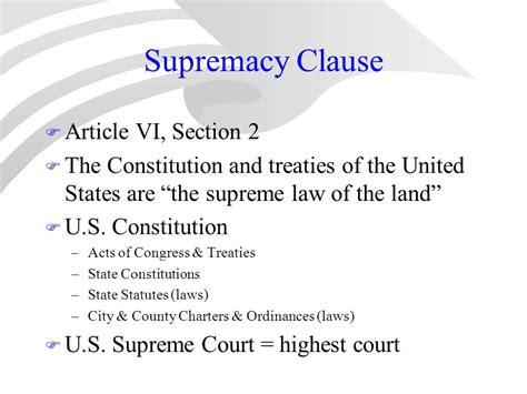 article 6 section 2 the articles of confederation vs the constitution ppt