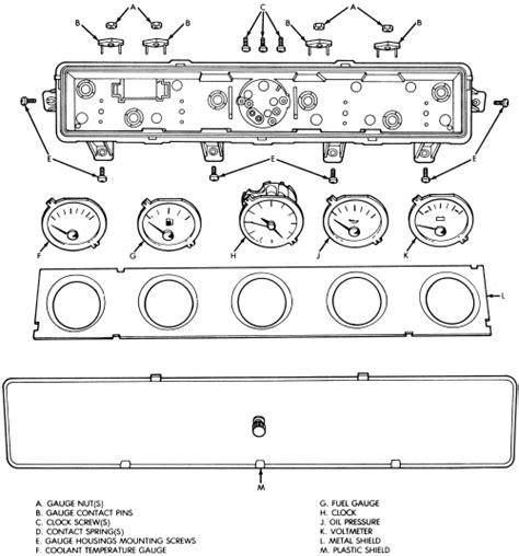 repair guides instrument and switches cluster