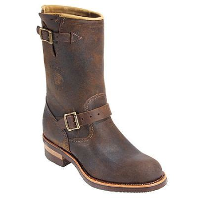 motorcycle boots buckle chippewa boots 27911 11 inch tan bomber buckle motorcycle